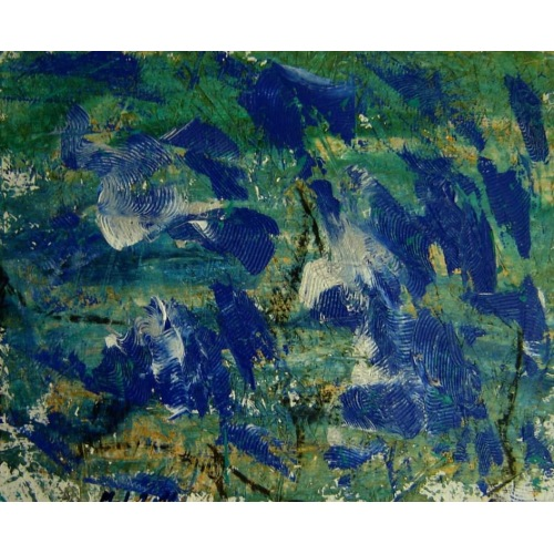 Painting No. 441 stürmische See III (2011) | Abstract Painting | 45x55cm | Acrylics on wood | ART by MANUEL SÜESS