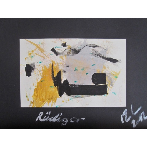 Painting No. 499 Rüdiger (2012) | Abstract Painting | 30x40cm | Acrylics on paper | ART by MANUEL SÜESS
