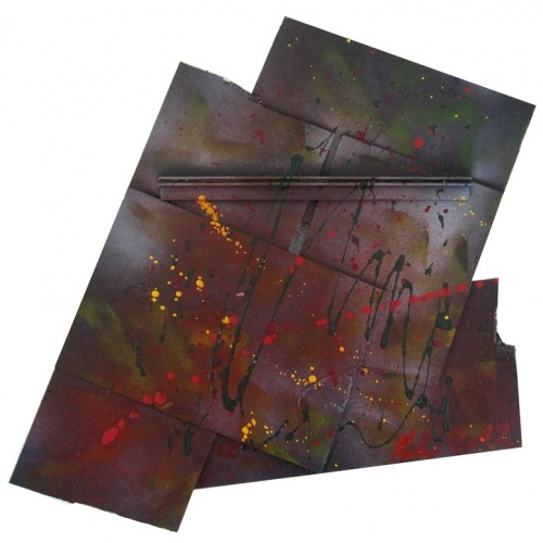 Painting No. 524 Zwischenschritt (2012) | Abstract Painting | 54x58cm | Acrylics on wood | Manuello | Art by Manuel Süess