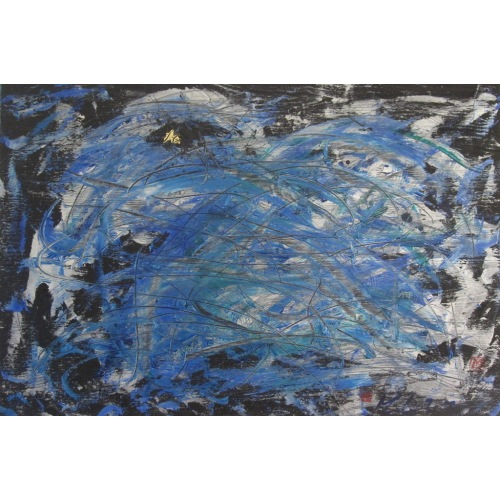 Painting No. 565 Trittbrettfahrer (2012)    Abstract Painting   60x90cm   Acrylics on spruce   Manuello   Art by Manuel Süess