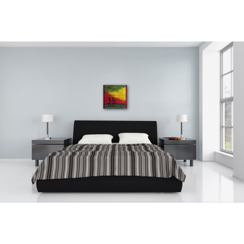 Preview: Painting No. 683 Tanzen I (2014) in a bedroom
