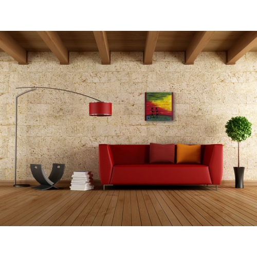 Preview: Painting No. 683 Tanzen I (2014) in a living room