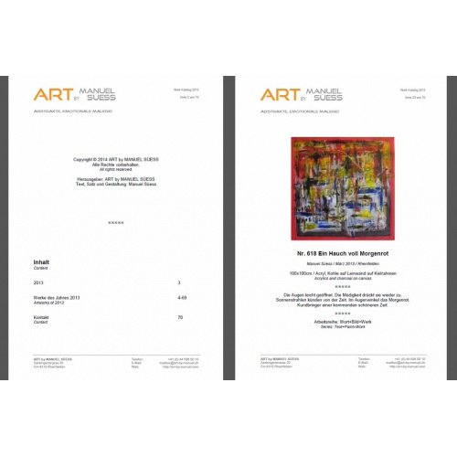Work Catalog 2012 - ART BY MANUEL SÜESS