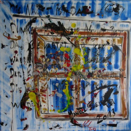 Painting No. 603 Die Nacht ist da (2013) | Abstract Painting | 100x100cm | Acrylics on canvas | ART by MANUEL SÜESS
