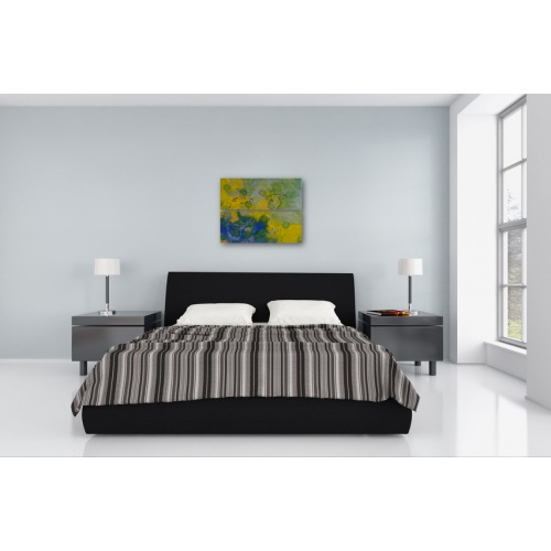 Preview: Painting No. 275 Frei (2010) in a bedroom