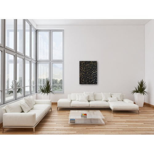 Preview: Painting No. 344 neues Leben (2011) in a living room