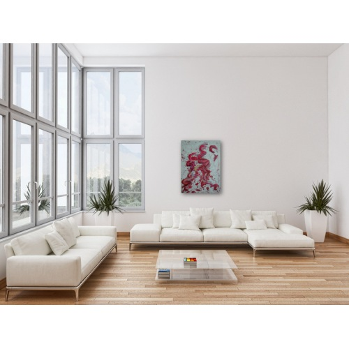 Preview: Painting No. 347 inneres Aufstreben II (2011) in a living room