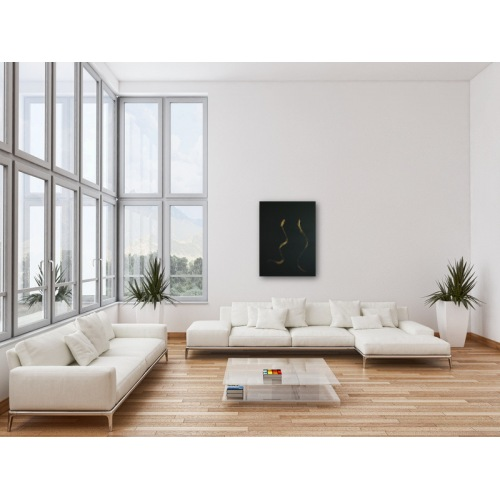 Preview: Painting No. 348 schöne Aussicht (2011) in a living room