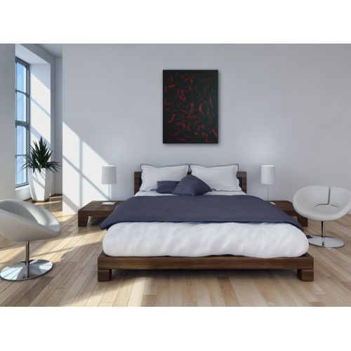 Preview: Painting No. 350 leidenschaftlich (2011) in a bedroom