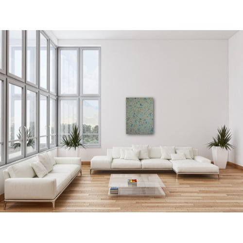 Preview: Painting No. 351 eifrige Helfer (2011) in a living room