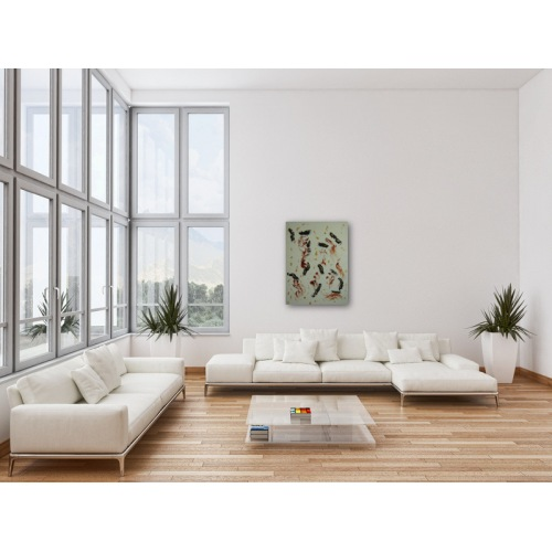 Preview: Painting No. 352 Anstrengung (2011) in a living room