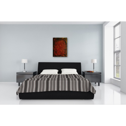 Preview: Painting No. 406 Sturm IV (2011) in a bedroom