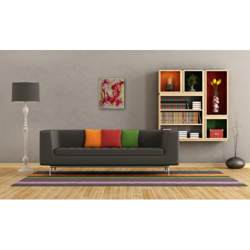 Preview: Painting No. 410 genervt (2011) in a living room