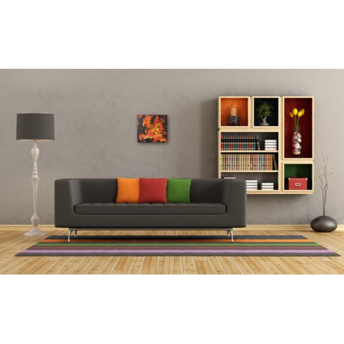 Preview: Painting No. 443 genervt II (2011) in a living room