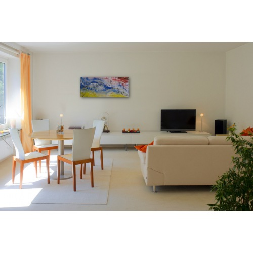 Preview:Painting No. 455 Der Flug - Start in die Wolken (2012) in a living room