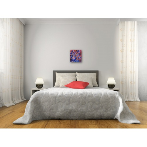 Preview: Painting No. 478 Misstrauen (2012) in a bedroom