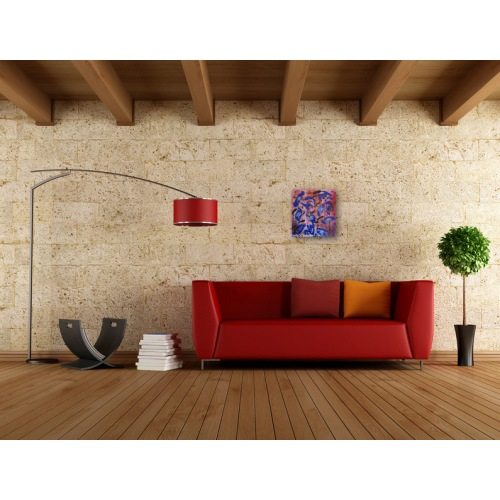 Preview: Painting No. 478 Misstrauen (2012) in a living room