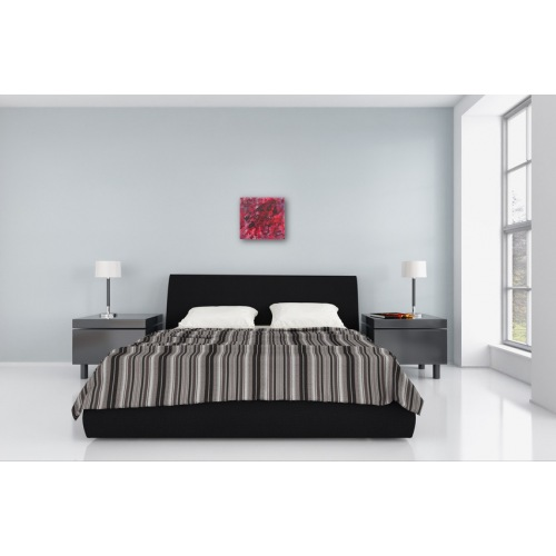 Preview: Painting No. 530 unerreichbar (2012) in a bedroom