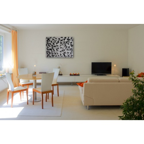 Preview: Painting No. 542 Alle tanzen (2012) in a living room