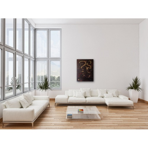 Preview: Painting No. 545 Spürnase (2012) in a living room