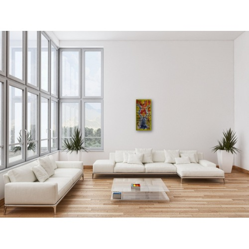 Preview: Painting No. 626 Energie der Annerkennung (2013) in a living room