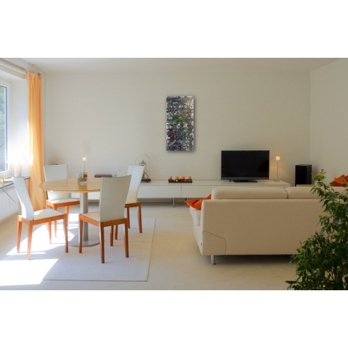 Preview: Painting No. 627 Bücherstapel (2013) in a living room