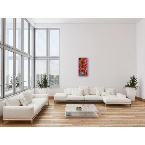 Preview: Painting No. 631 Blablabla (2013) in a living room
