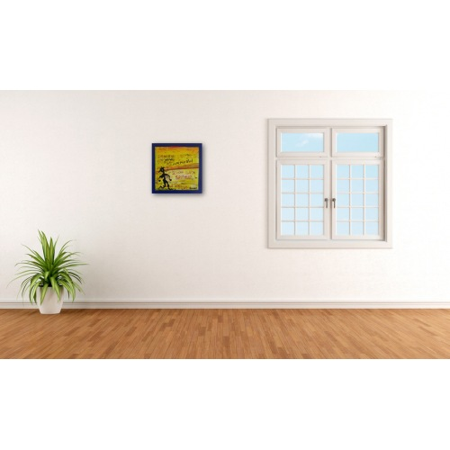 Preview: Painting No. 647 Roter Flitzer (2013) beside a window