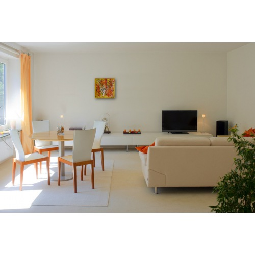 Preview: Painting No. 658 Frühlingsfreude II (2013) in a living room