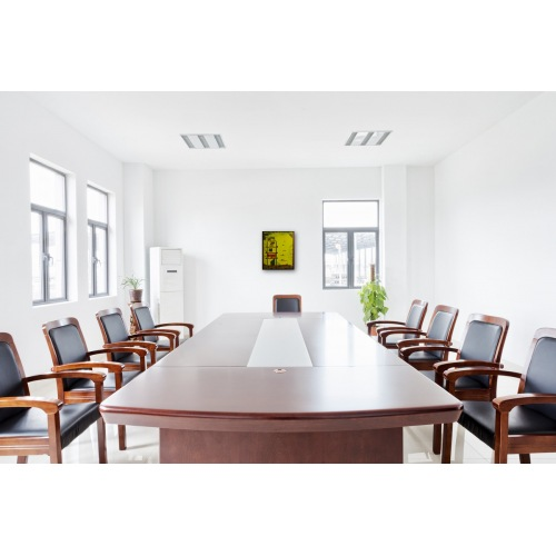 Preview: Painting No. 734 Tanzparty auf der Turmspitze (2014) in a conference room