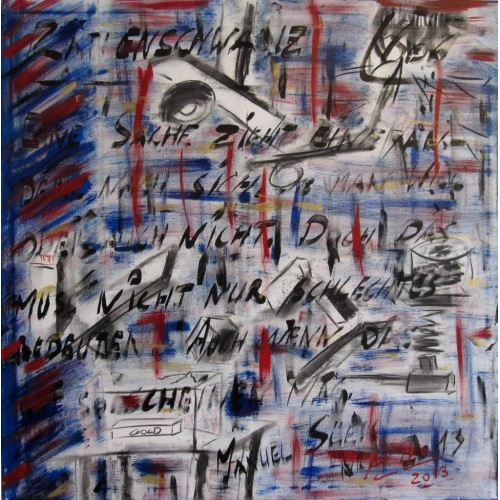 Painting No. 606 Rattenschwanz (2013) | Abstract Painting | 100x100cm | Acrylics on canvas | ART by MANUEL SÜESS