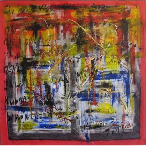 Painting No. 618 Ein Hauch voll Morgenrot (2013) | Abstract Painting | 100x100cm | Acrylics on canvas | ART by MANUEL SÜESS